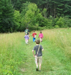 children hiking image